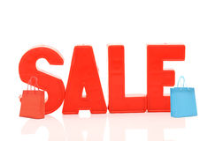 Word sale with shopping bags Royalty Free Stock Image