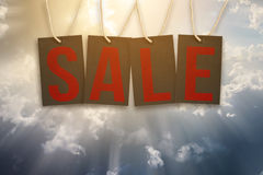Word Sale on Tags Royalty Free Stock Images