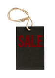 Word Sale on Tags on White Background Royalty Free Stock Photos