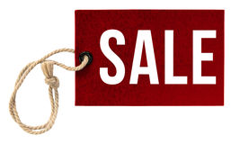 Word Sale on Tags on White Background Royalty Free Stock Photography