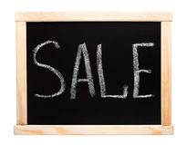 Word sale writtent on blackboard Stock Images