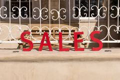 Word Sales in red Royalty Free Stock Photo