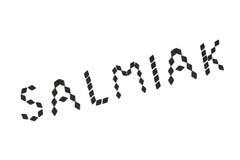 Word salmiak spelled in soft salmiak Stock Photography