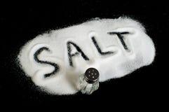 Word Salt on black background Royalty Free Stock Image