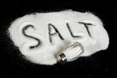 Word Salt on black background Royalty Free Stock Photo