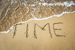 Word in the sand. An image of a word in the sand: TIME Royalty Free Stock Images
