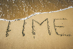 Word in the sand. An image of a word in the sand: TIME Stock Photography