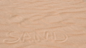Word Sand Royalty Free Stock Photo