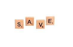 Word save Royalty Free Stock Photo