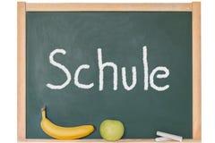 The word school on a blackboard Royalty Free Stock Photo