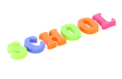 Word school from toy colourful letters Royalty Free Stock Photo
