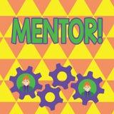Word schrijvende tekstmentor Bedrijfsconcept voor Persoon die advies of steun aan jongere minder ervaren geeft vector illustratie