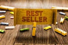 Word schrijvende tekstrust Verkoper Bedrijfsconcept voor één eigenschap of het waargenomen voordeelgoed dat tot het uniek Wasknij stock afbeelding