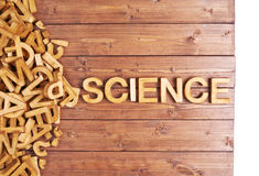 Word science made with wooden letters Stock Photography