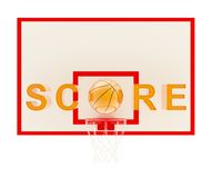 Word Score basketball composition Royalty Free Stock Images