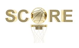 Word Score basketball themed composition Stock Photos