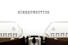 Screenwriting Vintage Typewriter Concept stock photography