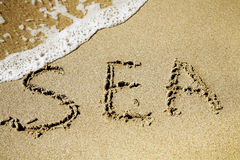 Word sea Royalty Free Stock Photos
