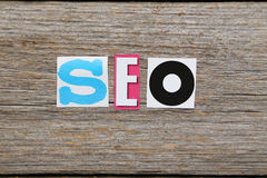 The word search engine optimization Stock Photography