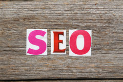 The word search engine optimization Stock Image