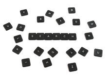 Word search made of keyboard buttons isolated Royalty Free Stock Image