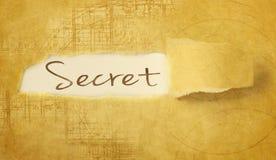 Word secret Royalty Free Stock Photos