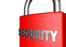 The word security embossed on a padlock Stock Images