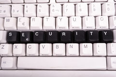 Word Security written with black keys on computer Royalty Free Stock Images