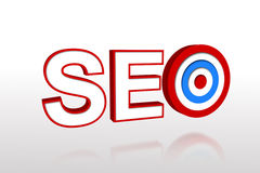 The word seo with target Royalty Free Stock Photo