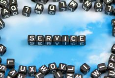 The word service royalty free stock photos