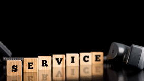 The word Service on wooden blocks Stock Image