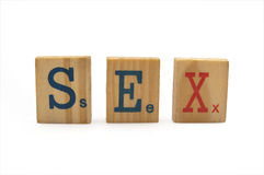 Word sex Royalty Free Stock Photos