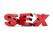 Word sex Royalty Free Stock Images