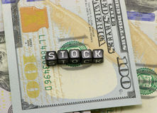 The word shares the concept dollars Royalty Free Stock Photos