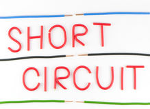 Word Short wiring Royalty Free Stock Images
