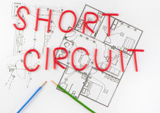 Word Short wiring Royalty Free Stock Photos