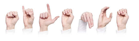 The word 'Silence' made in sign language royalty free stock image