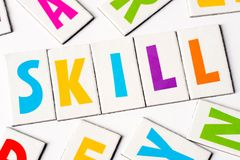 Word skill made of colorful letters Stock Image