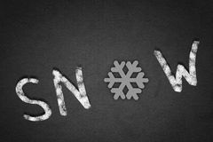 Word snow Stock Photos