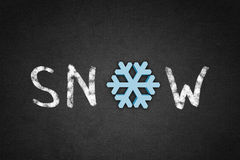 Word snow Royalty Free Stock Photography