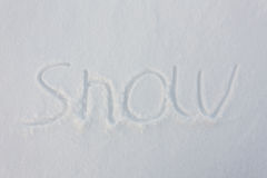 The word snow written Stock Photography