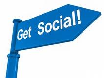 Word sociaal royalty-vrije illustratie