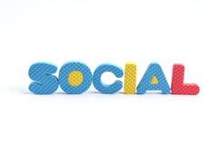 Word sociaal op witte achtergrond Stock Afbeeldingen