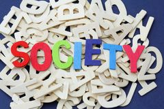 Word society. View from top. Royalty Free Stock Image