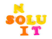 Word Solution Stock Images