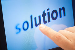 Word solution. On touch screen device Stock Image