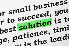 The word Solution Stock Photo