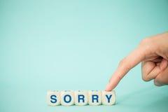 "Word ""SORRY"" with blocks Stock Photos"
