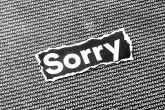 The word sorry Stock Images