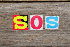 The word SOS Stock Photos